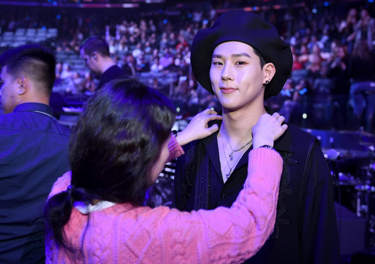 """<p>Word of advice: you might not want to ever challenge Jooheon to a dance-off, because you probably won't win. Jooheon is able to impersonate <a class=""""sugar-inline-link ga-track"""" title=""""Latest photos and news for Michael Jackson"""" href=""""https://www.popsugar.co.uk/Michael-Jackson"""" target=""""_blank"""" data-ga-category=""""Related"""" data-ga-label=""""https://www.popsugar.co.uk/Michael-Jackson"""" data-ga-action=""""&lt;-related-&gt; Links"""">Michael Jackson</a>, NBD. He also is able to impersonate Zion T and has been known to <a href=""""http://www.sbs.com.au/popasia/blog/2017/10/13/14-fun-facts-about-monsta-x"""" target=""""_blank"""" class=""""ga-track"""" data-ga-category=""""Related"""" data-ga-label=""""http://www.sbs.com.au/popasia/blog/2017/10/13/14-fun-facts-about-monsta-x"""" data-ga-action=""""In-Line Links"""">whip out both impersonations at the same time</a>.<br>.</p>"""