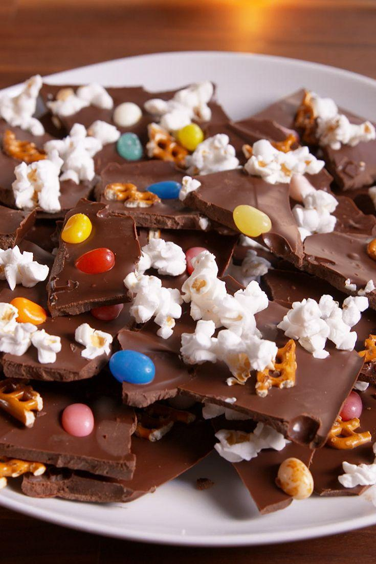"""<p>Make this treat to take part in The Peanuts gang's Turkey Day celebration.</p><p>Get the recipe from <a href=""""https://www.delish.com/cooking/recipe-ideas/recipes/a50046/charlie-brown-thanksgiving-inspired-chocolate-bark-recipe/"""" rel=""""nofollow noopener"""" target=""""_blank"""" data-ylk=""""slk:Delish"""" class=""""link rapid-noclick-resp"""">Delish</a>.</p>"""