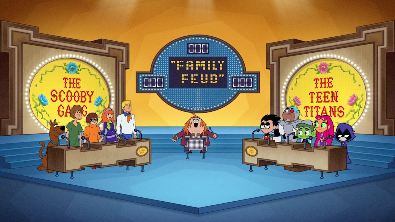 """<p><b>Friday, Oct. 4, at 6:00 p.m. local time:</b></p> <ul> <li>""""Cartoon Feud"""": Control Freak forces the Titans and the Scooby Gang to compete on Family Feud.</li> <li>""""Curse of the Booty Scooby"""": When Robin """"Booty Scooby's"""" his booty off, the Titans must go on an adventure to recover it.</li> <li>""""Collect Them All"""": After the other Titans are turned into collectibles and disappear, Robin must search yard sales and stores to find them.</li> <li>""""Butt Atoms"""": Despite Robin's warning, the Titans mess around with atomic toots and end up causing a worldwide plague.</li> </ul> <p><b>Tuesday, Oct. 15, at 6:00 p.m. local time:</b></p> <ul> <li>""""TV Knight 5"""": Batman pretends to be sick to avoid work so he and Commissioner Gordon can run around town watching their favorite shows.</li> </ul> <p><b>Friday, Oct. 25, at 6:00 p.m. local time:</b></p> <ul> <li>""""Witches Brew"""": The Titans throw a <a class=""""sugar-inline-link ga-track"""" title=""""Latest photos and news for Halloween"""" href=""""https://www.popsugar.com/Halloween"""" target=""""_blank"""" data-ga-category=""""Related"""" data-ga-label=""""https://www.popsugar.com/Halloween"""" data-ga-action=""""&lt;-related-&gt; Links"""">Halloween</a> party and invite the Justice League but the witches brew Robin creates has side effects.</li> </ul>"""