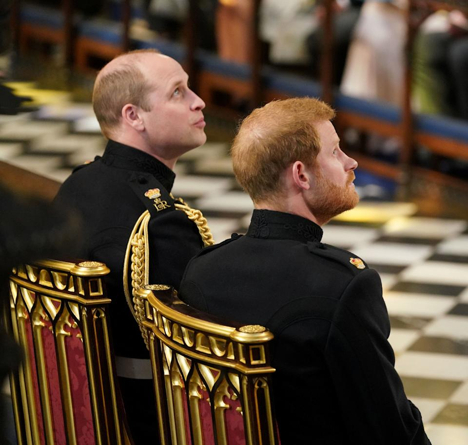 Prince Harryand his best man and brother, Prince William.