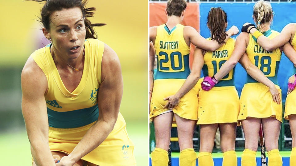 Georgie Parker, pictured here in action for the Hockeyroos.