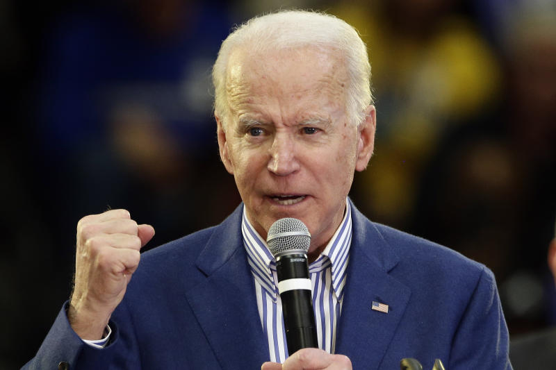 Democratic presidential candidate former Vice President Joe Biden. (AP Photo/Gerry Broome)
