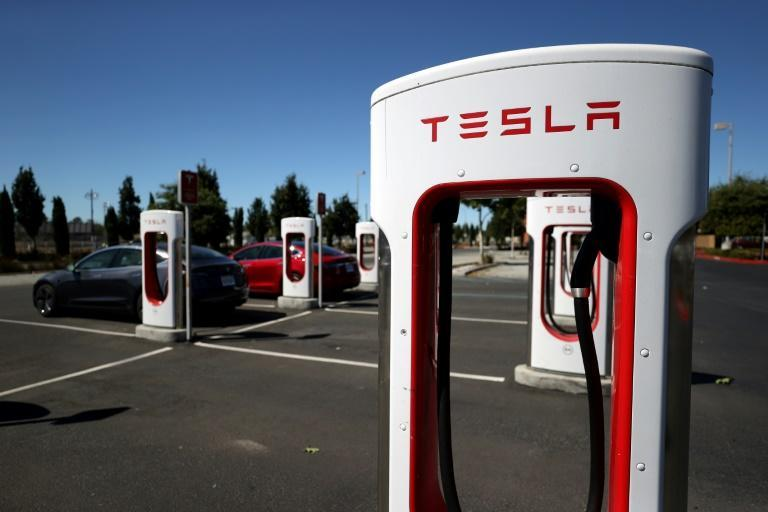 Electric car company Tesla reported a big jump in third-quarter deliveries