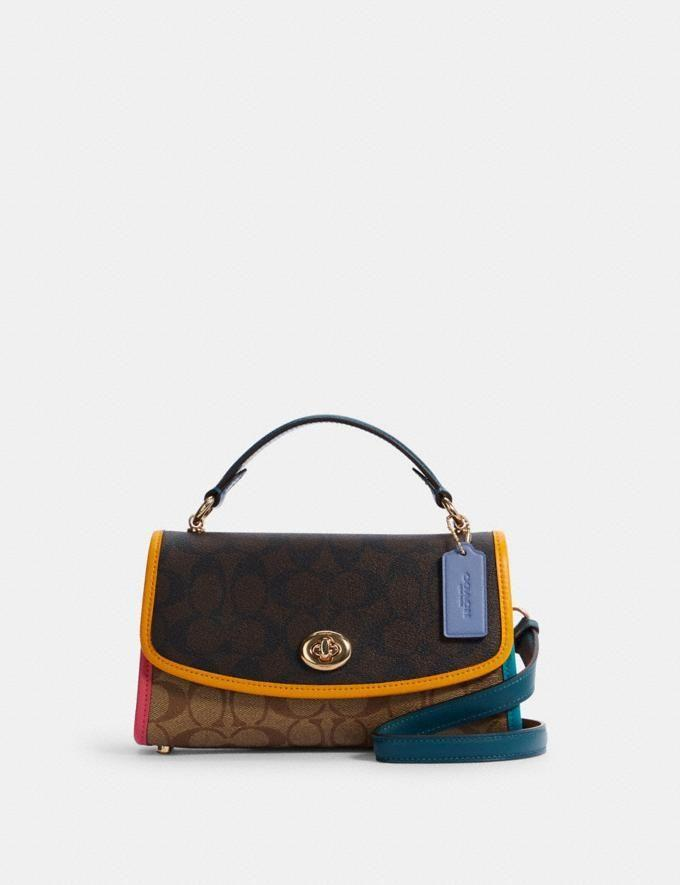 """<p><strong>COACH</strong></p><p>coachoutlet.com</p><p><strong>$151.20</strong></p><p><a href=""""https://go.redirectingat.com?id=74968X1596630&url=https%3A%2F%2Fwww.coachoutlet.com%2Fproducts%2Ftilly-satchel-23-in-colorblock-signature-canvas%2FC2820.html%3Fdwvar_color%3DIMNOX&sref=https%3A%2F%2Fwww.cosmopolitan.com%2Fstyle-beauty%2Ffashion%2Fg35681726%2Fexpensive-items-on-sale-hauliday%2F"""" rel=""""nofollow noopener"""" target=""""_blank"""" data-ylk=""""slk:Shop Now"""" class=""""link rapid-noclick-resp"""">Shop Now</a></p><p>Get your wardrobe primed and ready for spring with this super adorable shoulder bag from the Coach Outlet. Man, I love saving hundreds of dollars on a bag I could carry <em>everywhere</em>.</p><p><strong>How to score the deal:</strong> Take $10 off a purchase of $75 or more, and receive free shipping on orders over $50 with the code HAULIDAY.</p>"""
