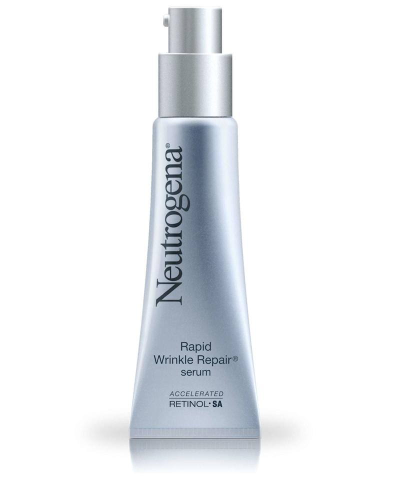 """<p>""""There are many great choices when it comes to retinol based night creams on the market. For a more inexpensive option, I like <a href=""""https://www.popsugar.com/buy/Neutrogena-Rapid-Wrinkle-Repair-Night-Moisturizer-376166?p_name=Neutrogena%20Rapid%20Wrinkle%20Repair%20Night%20Moisturizer&retailer=ulta.com&pid=376166&price=22&evar1=bella%3Aus&evar9=45417355&evar98=https%3A%2F%2Fwww.popsugar.com%2Fbeauty%2Fphoto-gallery%2F45417355%2Fimage%2F45417540%2FNeutrogena-Rapid-Wrinkle-Repair-Night-Moisturizer&list1=antiaging%2Cbeauty%20interview%2Cdark%20spots%2Cskin%20care&prop13=mobile&pdata=1"""" rel=""""nofollow"""" data-shoppable-link=""""1"""" target=""""_blank"""" class=""""ga-track"""" data-ga-category=""""Related"""" data-ga-label=""""http://www.ulta.com/rapid-wrinkle-repair-night-moisturizer?productId=xlsImpprod3190077&amp;sku=2225740&amp;CMPID=CSGGLE&amp;CAWELAID=828669000"""" data-ga-action=""""In-Line Links"""">Neutrogena Rapid Wrinkle Repair Night Moisturizer</a> ($22), as it can be less irritating than other retinol products and leaves the skin feeling very smooth the next morning after use."""" - dermatologist <a href=""""http://instagram.com/paulcellura"""" target=""""_blank"""" class=""""ga-track"""" data-ga-category=""""Related"""" data-ga-label=""""http://instagram.com/paulcellura"""" data-ga-action=""""In-Line Links"""">Paul Cellura</a>, MD</p> <p>""""I like Neutrogena's Rapid Wrinkle Repair because it's based in a hyaluronic acid moisturizer to help prevent irritation and dryness, and it's widely available in most drugstores and a very reasonable price point."""" - dermatologist <a href=""""http://instagram.com/thedermdiva"""" target=""""_blank"""" class=""""ga-track"""" data-ga-category=""""Related"""" data-ga-label=""""http://instagram.com/thedermdiva"""" data-ga-action=""""In-Line Links"""">Susan Bard</a>, MD<span></span></p> <p>""""The Neutrogrena Rapid Wrinkle Repair is a  great over-the-counter retinol that isn't irritating."""" - dermatologist <a href=""""http://instagram.com/drbhanusali"""" target=""""_blank"""" class=""""ga-track"""" data-ga-category=""""Related"""" data-ga-label=""""http://instagra"""