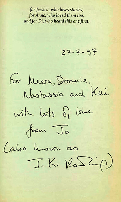 """<em><span class=""""s1"""">In 2017, another copy of the book, that included a rare inscription addressed to J. K. Rowling's friend and her family, sold for £106,000</span>&nbsp;(SWNS)</em>"""
