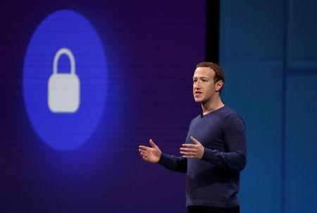 FILE PHOTO: Facebook CEO Mark Zuckerberg speaks at Facebook Inc's annual F8 developers conference in San Jose, California, U.S. May 1, 2018. REUTERS/Stephen Lam/File Photo