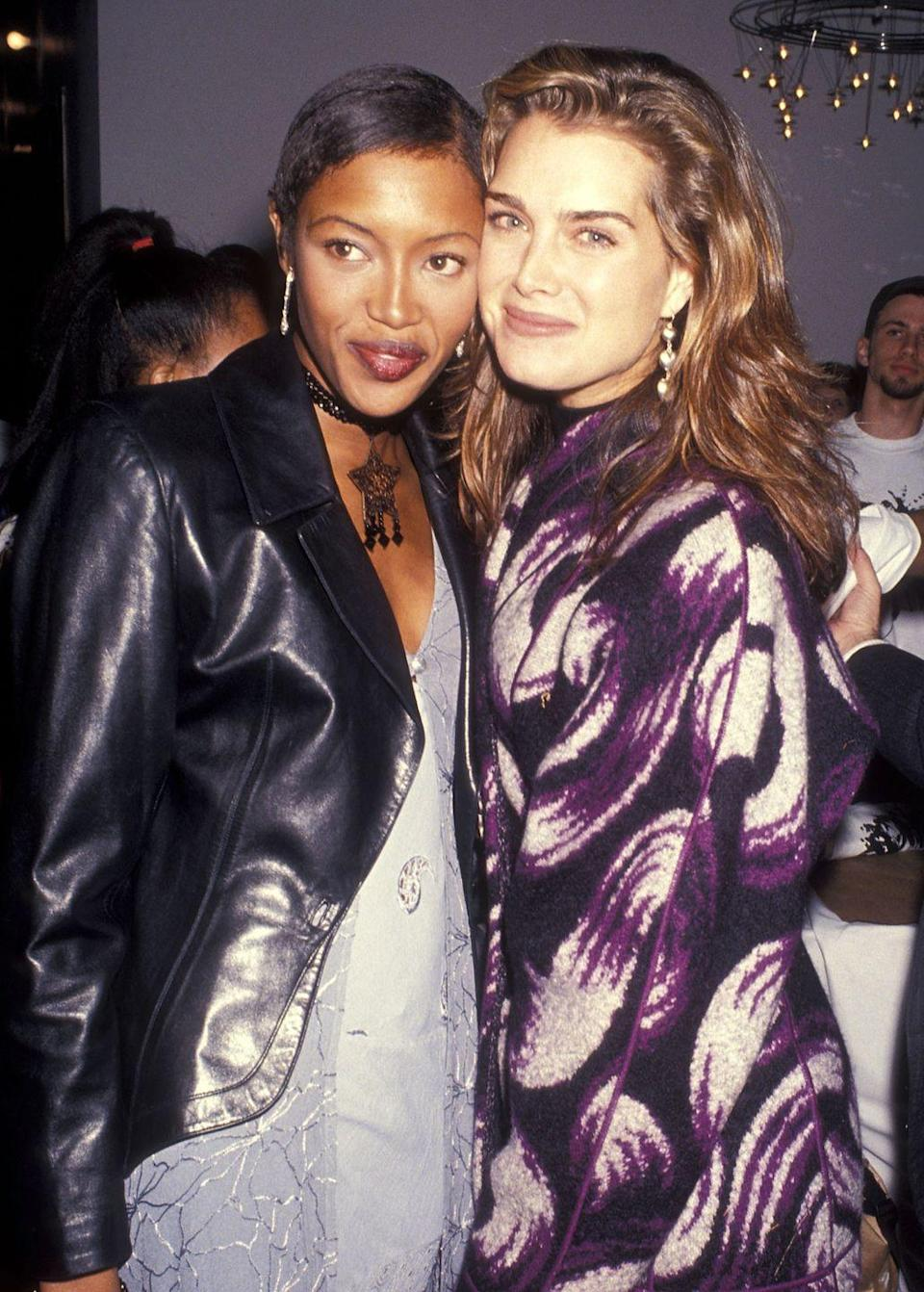 <p>Brooke is pictured here with Naomi Campbell, back when both of their careers were extremely successful. In 1993, Brooke had appearances in TV shows including <em>I Can Make You Love Me, The Simpsons</em>, and <em>Tales from the Crypt</em>. </p>