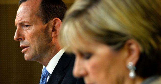 Julie Bishop has denied claims she betrayed Tony Abbott. Source: Getty