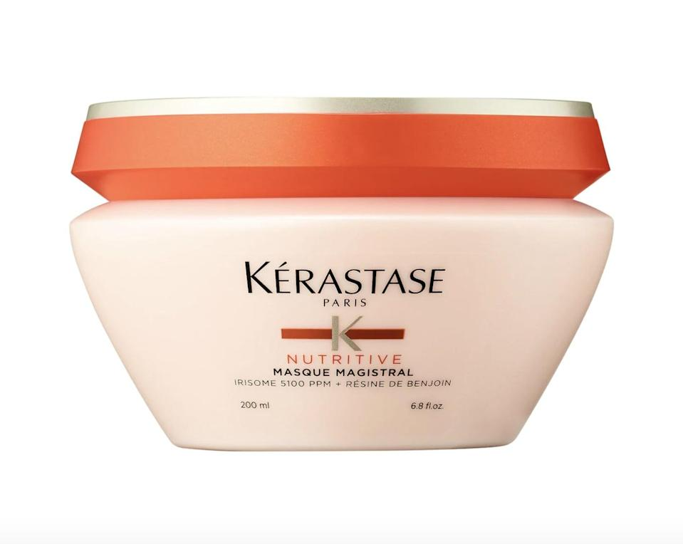 """<p>This <a href=""""https://www.sephora.com/product/nutritive-mask-for-severly-dry-hair-P434406?icid2=products%20grid:p434406"""" class=""""link rapid-noclick-resp"""" rel=""""nofollow noopener"""" target=""""_blank"""" data-ylk=""""slk:Kérastase  Nutritive Mask for Severely Dry Hair"""">Kérastase<br> Nutritive Mask for Severely Dry Hair</a> ($56) is made with ceramides and benjoin resin that smooth frizzy hair without weighing it down. It works on all hair types.</p>"""