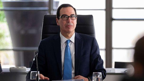 PHOTO: Treasury Secretary Steven Mnuchin attends a working session during the G7 finance ministers and central bank governors meeting in Chantilly, near Paris, France, July 17, 2019. (Ian Langsdon/Pool via Reuters)