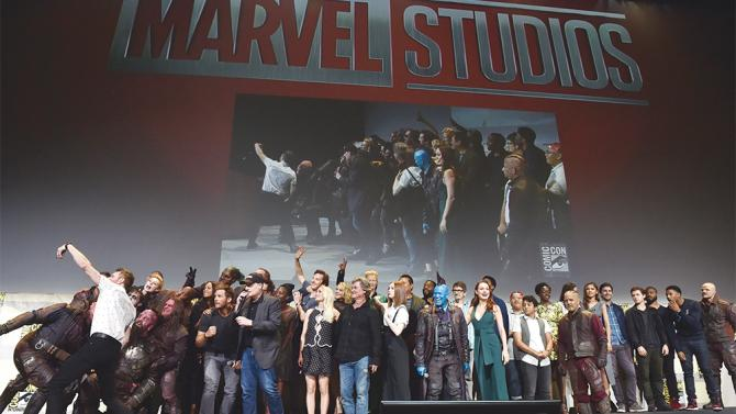 SAN DIEGO, CA - JULY 23: The casts and filmmakers from Marvel Studios' attend the San Diego Comic-Con International 2016 Marvel Panel in Hall H on July 23, 2016 in San Diego, California. ©Marvel Studios 2016. ©2016 CTMG. All Rights Reserved. (Photo by Alberto E. Rodriguez/Getty Images for Disney)