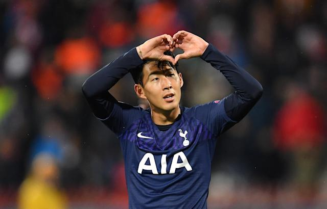 Son scored twice at Red Star Belgrade to ease his difficult week. (Photo by Justin Setterfield/Getty Images)