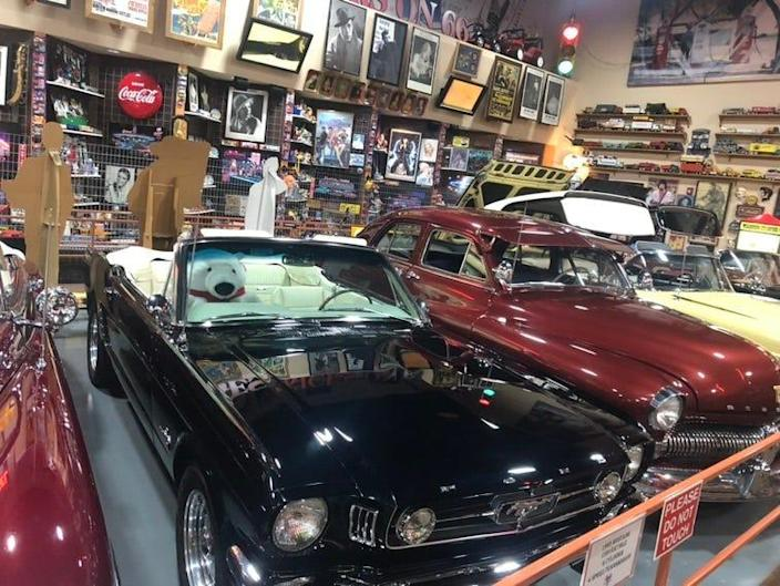 Located on historic Route 66 near Interstate 40, Russell's Truck & Travel Center, Glenrio, N.M., lures travelers with a free vintage car museum.
