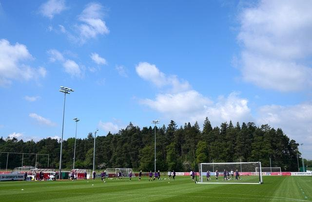 The match was being played at St George's Park near Burton upon Trent