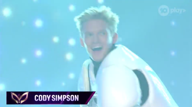 Masked Singer Cody Simpson wins season one. Photo: Channel 10.