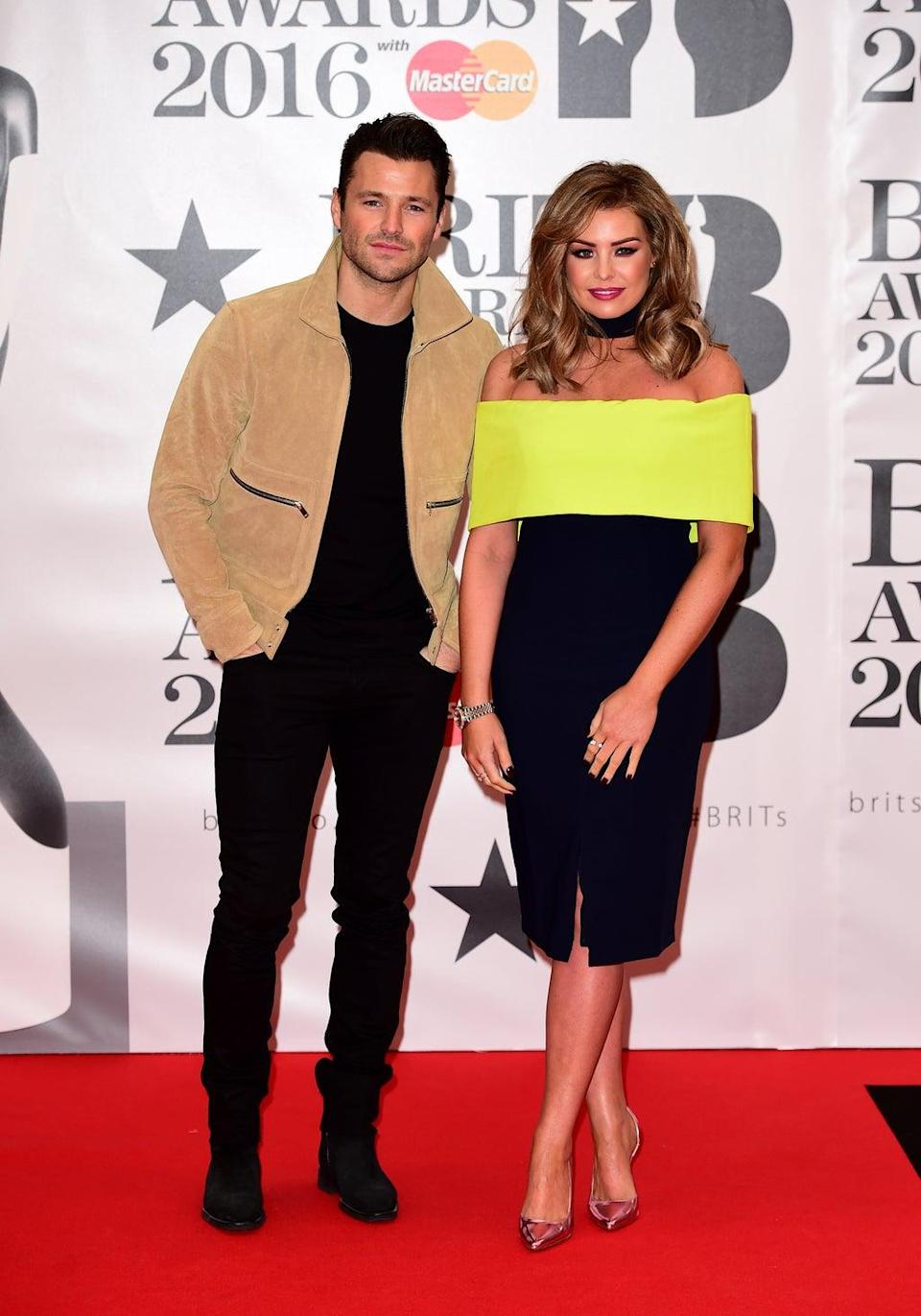 Mark and Jess Wright on the Brit Awards red carpet (Ian West/PA) (PA Archive)