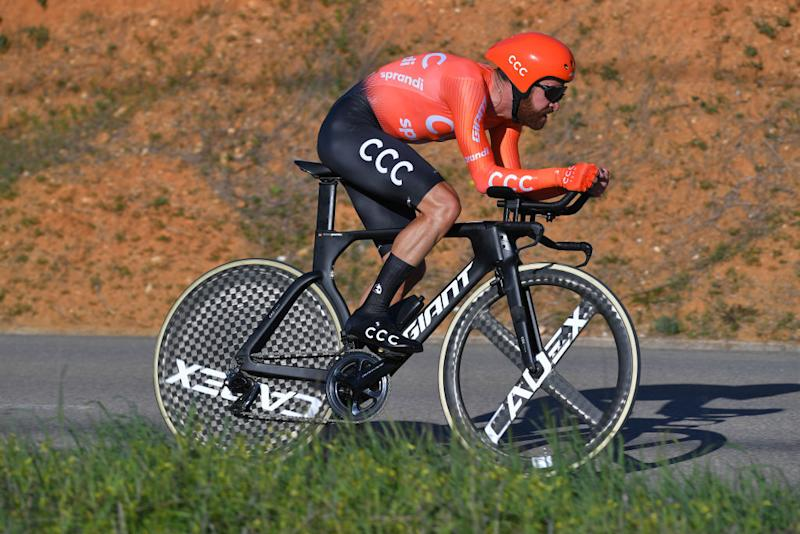 LAGOA PORTUGAL FEBRUARY 23 Simon Geschke of Germany and CCC Team during the 46th Volta ao Algarve 2020 Stage 5 a 203km Individual Time Trial stage from Lagoa to Lagoa ITT VAlgarve2020 on February 23 2020 in Lagoa Portugal Photo by Tim de WaeleGetty Images