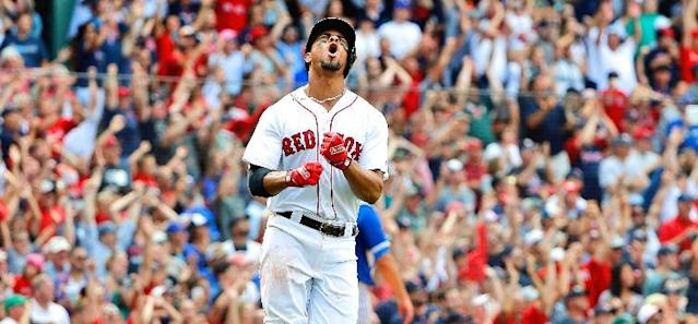 <p>Xander Bogaerts hits a game-ending grand slam with one out in the 10th inning to carry the Red Sox to a 6-2 victory over the Toronto Blue Jays on Saturday.</p>