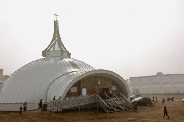 St. Jude's Cathedral in Iqaluit was destroyed by a fire in 2005.  (Vincent Desrosiers/CBC - image credit)
