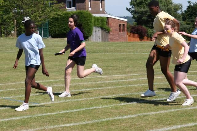 Dina Asher-Smith ahead of the field in a 2009 school sports day (Newstead Wood/Handout)