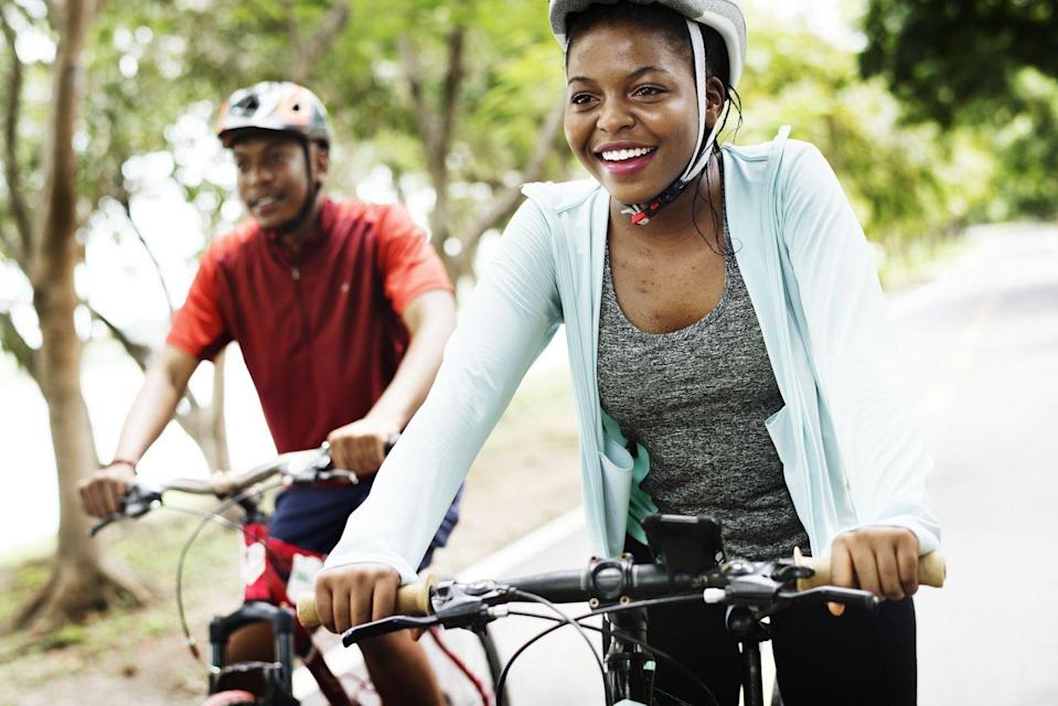 <p>If you live in a city, bike rentals are pretty easy to find. And if streets are less crowded, you may be able to ride for a few extra miles, while wearing helmets of course. </p>