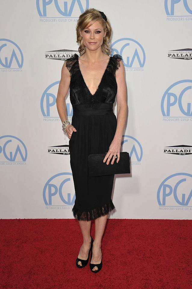 "<a href=""http://movies.yahoo.com/movie/contributor/1800253184"">Julie Bowen</a> at the 21st Annual Producers Guild Awards in Hollywood, California - 01/24/2010"