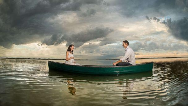 PHOTO: Suzanne and her husband Wes in a boat on Lake Dora in Florida. (Cricket's Photography)