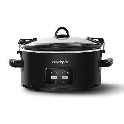 """<p><strong>Crock-Pot</strong></p><p>target.com</p><p><strong>$41.99</strong></p><p><a href=""""https://www.target.com/p/crock-pot-6qt-programmable-cook-38-carry-slow-cooker-black-sccpvlf605-b/-/A-13697382"""" rel=""""nofollow noopener"""" target=""""_blank"""" data-ylk=""""slk:Shop Now"""" class=""""link rapid-noclick-resp"""">Shop Now</a></p><p>Everyone should have this easy-to-use slow cooker in their kitchen. </p>"""