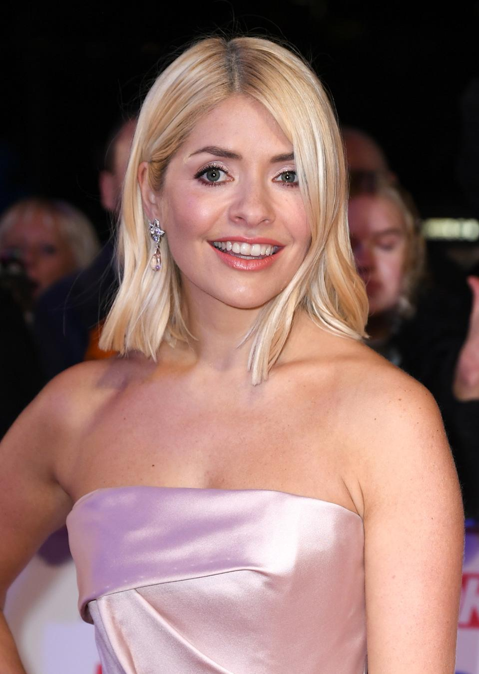 Holly Willoughby attending the National Television Awards 2020 held at the O2 Arena, London. Photo credit should read: Doug Peters/EMPICS