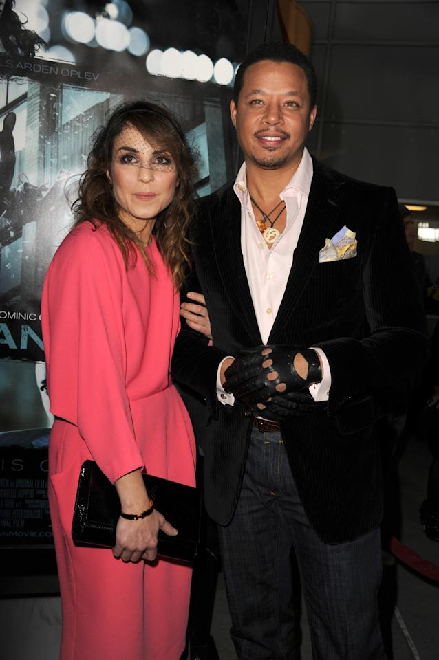 "HOLLYWOOD, CA - FEBRUARY 26:  Actress Noomi Rapace and actor Terrence Howard arriveto the premiere of FilmDistricts's ""Dead Man Down"" at ArcLight Hollywood on February 26, 2013 in Hollywood, California.  (Photo by Kevin Winter/Getty Images)"