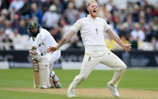 <span>Ben Stokes appealing for the wicket of Hashim Amla</span> <span>Credit: GETTY IMAGES </span>