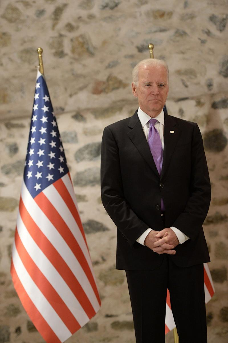 After years of criticism for his plan categorizing Iraq's residents as irredeemably different from each other, and poll after poll showing sectarian politics weren't the highest aspiration of many Iraqis, Biden remained unmoved. (Photo: Anadolu Agency via Getty Images)
