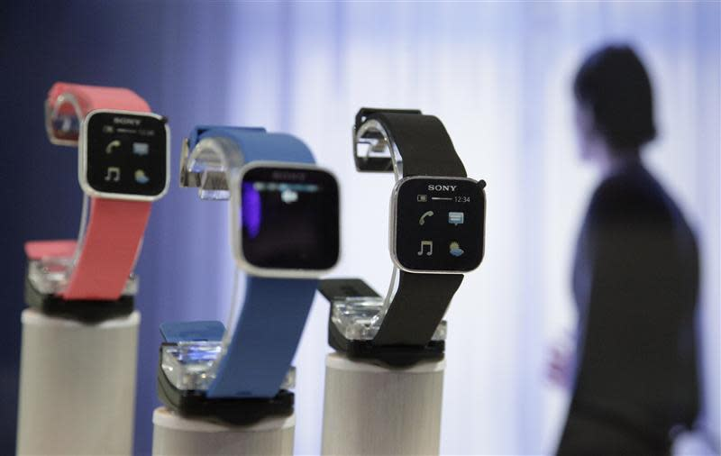 Sony's SmartWatch is on display during press preview day before official start of IFA consumer electronics fair in Berlin