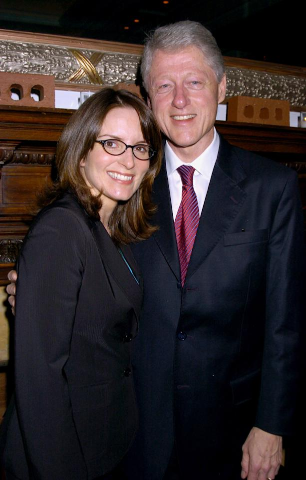 Tina Fey and President Bill Clinton during The 2005 Do Something BRICK Awards - Inside Arrivals at Capitale in New York City, New York, United States. (Photo by Robin Platzer/FilmMagic)
