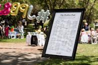 """<p>Tasteful, chic, and cute, you can make a wow-worthy seating chart when you have an oversize frame, paper, and a pen. Just write down where each person should sit, and slide the paper into the frame. You can add personalized touches to the chart like hearts, your <a class=""""link rapid-noclick-resp"""" href=""""https://www.popsugar.com/latest/Wedding"""" rel=""""nofollow noopener"""" target=""""_blank"""" data-ylk=""""slk:wedding"""">wedding</a> hashtag, and more.</p>"""