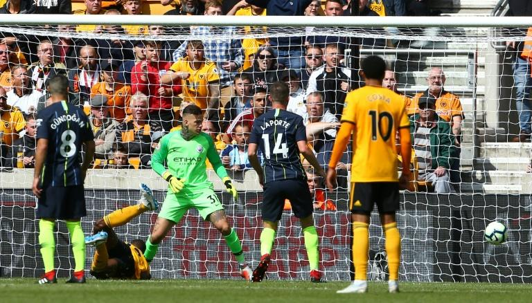Willy Boly's controversial goal put Wolves ahead against Manchester City