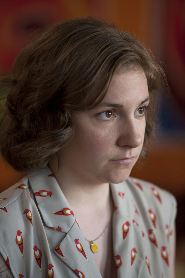 "Lena Dunham in the ""Girls"" Season 2 episode, ""One Man's Trash."""