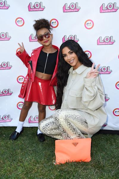The oldest daughter of Kim and Kanye proved she's got mom and dad's fashion sense.