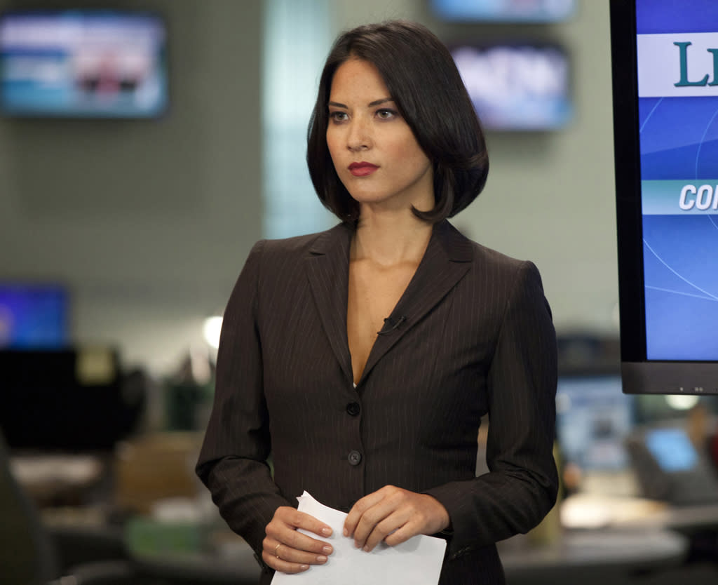 "Olivia Munn in ""The Newsroom"" on HBO."