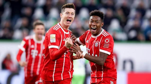 <p>Runaway Bundesliga leaders Bayern Munich came from behind to beat Wolfsburg in a dramatic encounter at the Volkswagen Arena on Saturday.</p><p>Bayern were shocked on eight minutes when Yunus Malli picked out Daniel Didavi with a good cross following a short corner, and he headed past Sven Ulreich to make it 1-0 to the home side. </p><p>The defending champions dominated possession in the first half despite going behind, however they could not produce in the final third until the 43rd minute, when Franck Ribery rattled the woodwork. The Bavarians then went into half time trailing despite their dominant possession. </p><p>Bayern were controversially awarded a penalty in the 52nd minute, when Corentin Tolisso was brought down as Renato Steffen was shielding the ball. Arjen Robben stepped up to take the penalty kick, but saw his effort saved by Koen Casteels.</p><p>Thomas Muller came off Bayern's star-studded bench and had an instant impact in the 63rd minute as he played a great ball through to Robben, who showed great pace to run down the flank and deliver an excellent ball to Sandro Wagner - who headed in the Bavarians' equalizer. </p><p>In the 80th minute, Robert Lewandowski was brought on to replace Wagner as Bayern looked to push for the winning goal.</p><p>They were then awarded a stoppage time penalty - much to the dismay of the Wolfsburg players - and Lewandowski made no mistake in converting and giving the defending champions the win. </p>