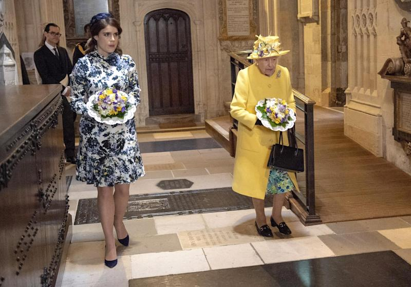 Princess Eugenie and Queen Elizabeth at the Royal Maundy service 2018 (Getty Images)