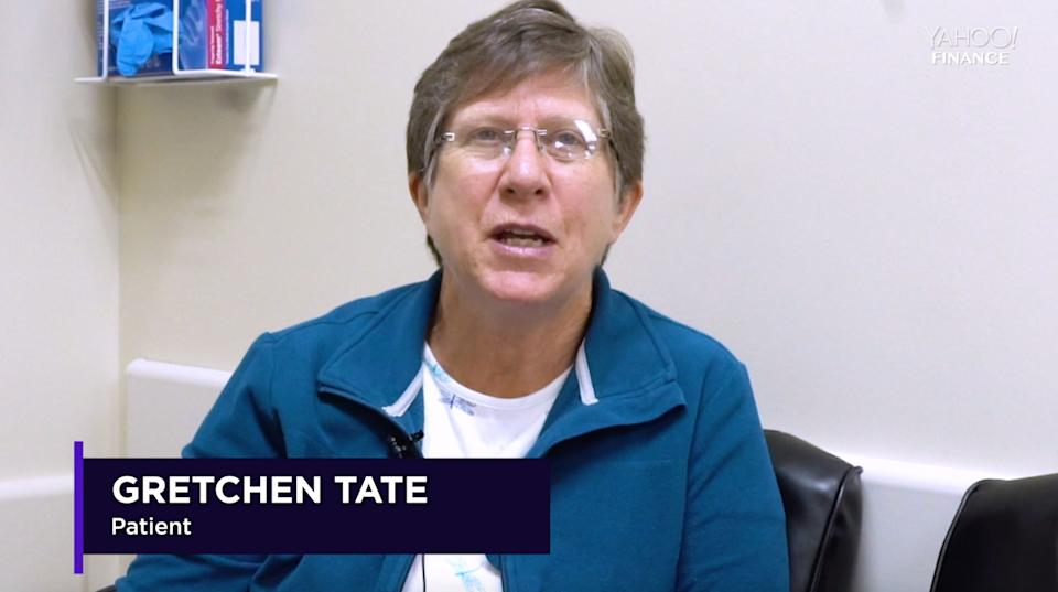 A patient speaks to Yahoo Finance at the Surgery Center of Oklahoma. (Source: Yahoo Finance)