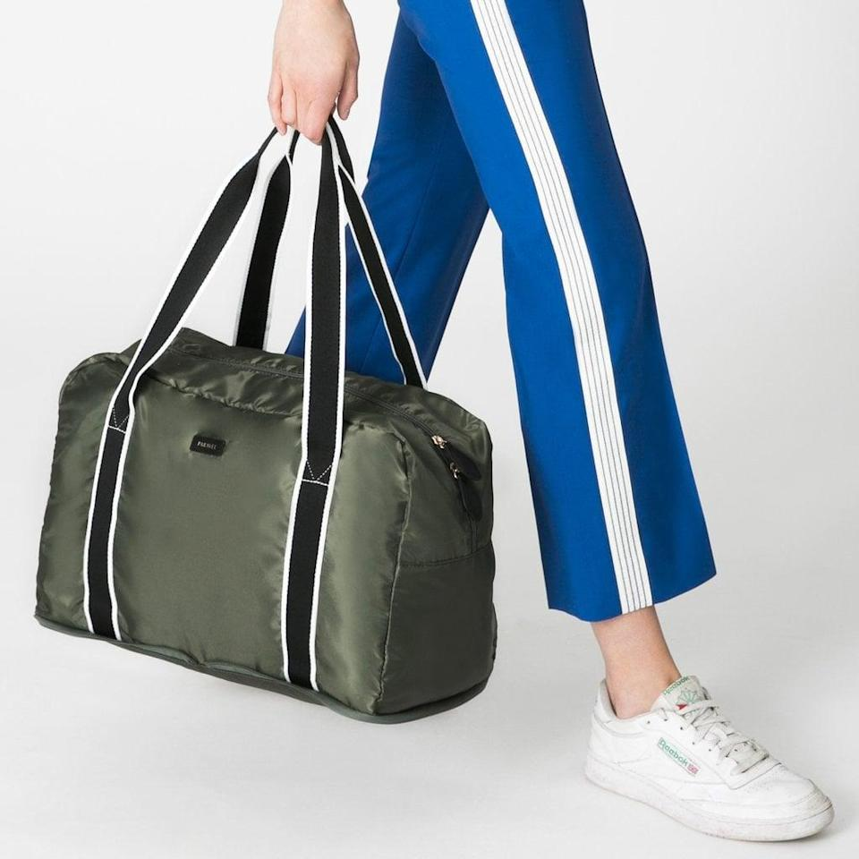 <p>While this Paravel <span>Fold-Up Bag</span> ($65) isn't a true diaper bag, it folds up easily into a zip pouch and is great to have on-hand when out with baby (or it can be used as a hospital bag!).</p>