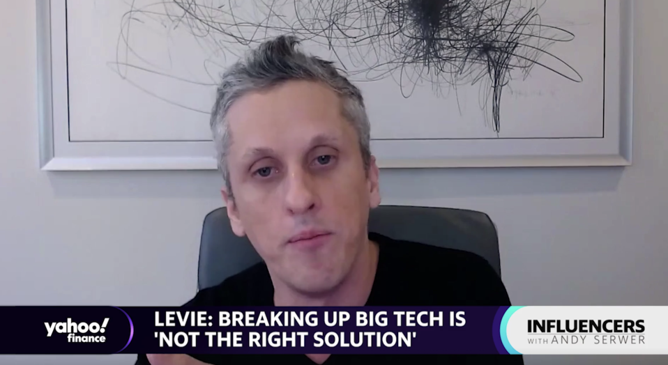 "Box CEO Aaron Levie appears on ""Influencers with Andy Serwer."""