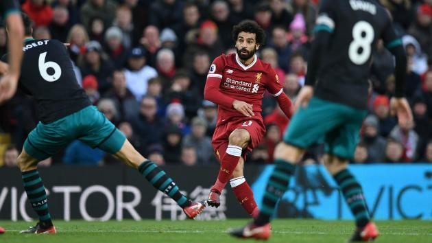 <p>Red-hot Salah shatters Fowler's Liverpool record</p>