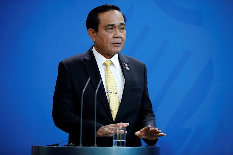 Thai Prime Minister General Prayut Chan-O-Cha, pictured here in November 2018, dismissed rumours of an impending coup as 'fake news' (AFP Photo/Odd ANDERSEN)