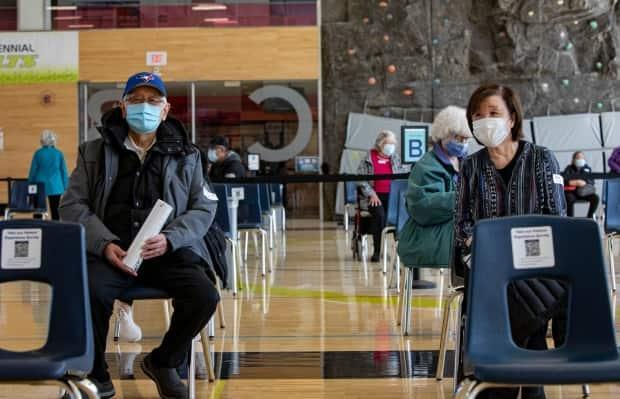 Scarborough Health Network says it will be temporarily closing its vaccination clinic at Centennial College, pictured here, until more doses become available. (Evan Mitsui/CBC - image credit)