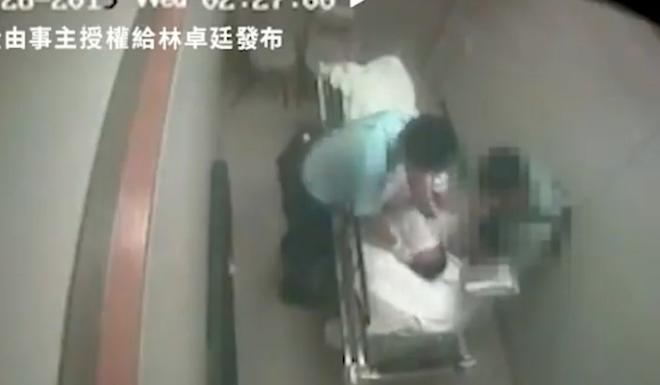 A still from the video showing the incident at North District Hospital. Photo: Handout