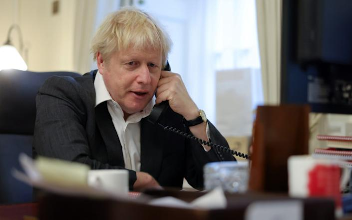 Mr Johnson and VDL are speaking again this morning - Andrew Parsons / No10 Downing Street